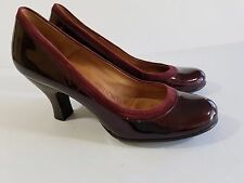 Sofft Patent Leather Heels Women shoe Size 8 Burgandy Red Wine