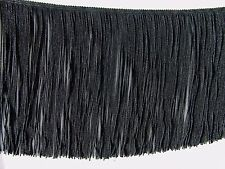 "SPECIAL PRICE ~ 3 YARDS of 7"" Black Chainette Fringe Trim ~ Lampshades Costumes"