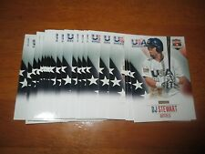 Lot (10) Card #5 D.J. STEWART DJ Orioles 2014 Panini USA Baseball Box Set QTY