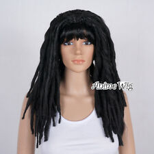 Dreadlocks African Black Long 50CM Curly Roll Costume Cosplay Party Wig