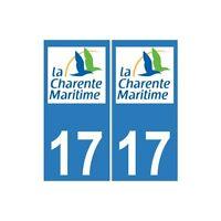 17 CG Charente-Maritime autocollant plaque immatriculation sticker droits