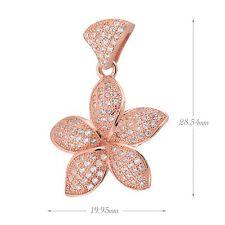 Sterling silver Pave Cubic Zirconia (CZ) Flower Necklace pendant