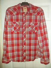 mens levis red cotton check shirt size medium