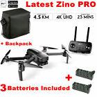 Hubsan Zino PRO APP FPV Foldbale DRONE--12MP 4K Camera 3Axis Gimbal+2Battery+Bag