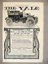 The Yale Touring Car Automobile PRINT AD - 1903 ~ Kirk Manufacturing