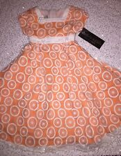 NWT Isobella & Chloe Orange/Melon Medallion Easter Dress Size 5