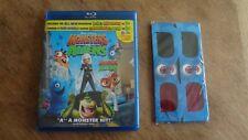 Blu-Ray Movie Monsters VS Aliens with Unused 3D Glasses!