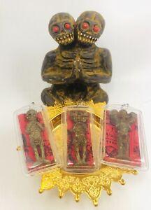 3 pcs Thai Magic Wizard Voodoo Doll House Skull Ghost Kuman Thong Amulet Pendant