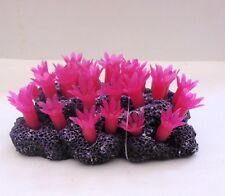 Aqua Deco 389D Ornamento de acuario Suave Rojo Flor peces tanque de arrecife de coral