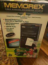 Karaoke The Singing Machine Smg-70 Cd Cassett Tape And Fm/Am Radio + Mic Extras!
