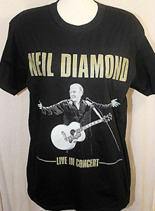 Neil Diamond Live In Concert North American Tour Double Sided Mens T Shirt -new
