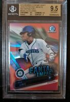 2016 Bowman Chrome Draft Kyle Lewis Red Refractor 2/5 BGS 9.5  Mariners