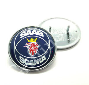 Saab 93 9-3 9400 98-03MY Saab Scania Front Bonnet Hood Blue Badge Emblem 4522884