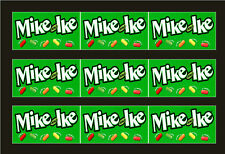 9 VENDSTAR 3000 VENDING MACHINE CANDY STICKERS LABEL  Free Shipping MIKE IKES