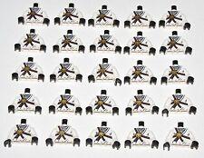 LEGO LOT OF 25 NEW WHITE NINJAGO NINJA MINIFIGURE ZANE TORSOS ROPE PATTERN