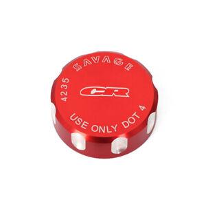 LOGO Rear Brake Reservoir Cover Cap For Honda CR80R CR85R CR125R CR250R CR500R