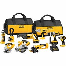 Cordless Tool Set Combo Kit With Bag Impact Driver 18V Saw 9 Tool Drill Jig