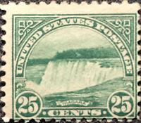 Scott #568 US 1923 25 Cents Niagra Falls Postage Stamp