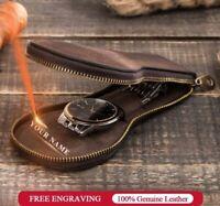 Watch Storage Display Box Genuine Leather Travel Watchers Case Wrist Pouch Gifts