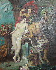 1957 Nude oil painting Neptune and Cybele
