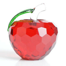 Red Apple Crystal Ball Feng Shui for Home Decor Suncatcher Crystal Gifts Crafts