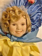 Pristine Danbury Mint Bisque Porcelain Shirley Temple Little Colonel Doll