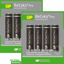 8 x GP Recyko+ PRO AA 2000 mAh Stay Charged Rechargeable Batteries NiMH HR6 LR6