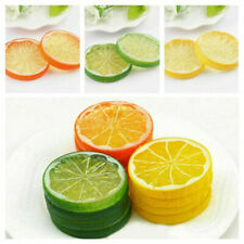 2/3pcs Lifelike Decorative Artificial Plastic Lemon Slices Fake Fruit Home Decor