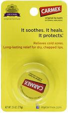 CARMEX Moisturizing Lip Balm Original Soothes Heals Cold Sores Protects 0.25 oz