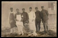 WW1 RED CROSS AMBULANCE UNIT FRENCH ARMY ANTIQUE PHOTO RPPC POSTCARD