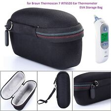 For Braun Thermoscan 7 IRT6520 Ear Thermometer Case EVA Storage Travel Bag Cover