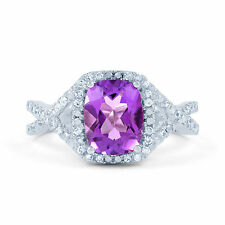 Emerald Heating Amethyst Fine Rings