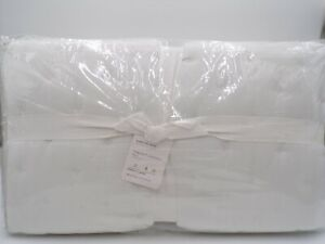 Pottery Barn White TENCEL Quilt 310 Thread Count King/Cal. King #9696A