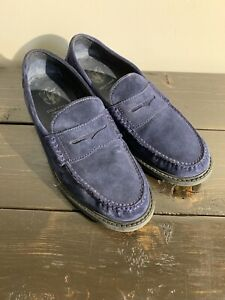 Cole Haan Pinch Campus Blue Suede Penny Slip On Loafer Shoe Size 9