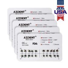 10 Kits Dental Orthodontic Treatment Metal Brackets Braces Slot.022 Hooks 3-4-5