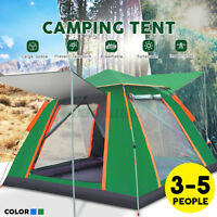 3-5 Person Automatic Family Camping Tent Outdoor Quick Open Dome Waterproof