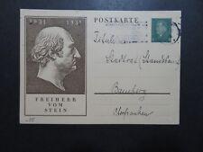 Germany 1931 Vom Stein Cacheted Postal Card Used - Z10244