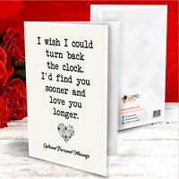 Personalised Anniversary Card For Boyfriend Girlfriend Husband Him Wife Her Gift