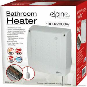 BATHROOM KITCHEN 2KW 2000W ELECTRIC DOWNFLOW WALL MOUNTED WINTER FAN HEATER
