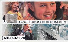France télécarte 120 France Télécom et le monde est plus proche