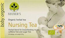 Neuner's Organic Nursing Tea Herbs Health Healthy Lactation 20 Bags (Pack of 2)