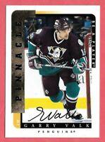 1996-97 Gary Valk Pinnacle Be A Player Auto - Anaheim Ducks