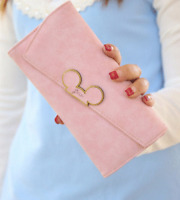 New Women Wallets Leather Long Mickey Mouse Head Section Purse Cover Card Holder