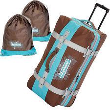 Trolley Travel Bag Ladies Elephant 80 cm XXL Suitcase Reisetrolley Turquoise