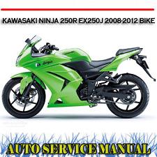 KAWASAKI NINJA 250R EX250J 2008-2012 BIKE WORKSHOP SERVICE REPAIR MANUAL ~ DVD