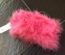 """RIVER ISLAND Piume Rosa Make Up Cosmetici Bag Nuovo di Zecca 8"""" x 4"""" x 3"""""""