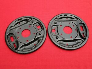 Matched Pair of Reconditioned OEM Rear Brake Backing Plates for Sunbeam Alpine !