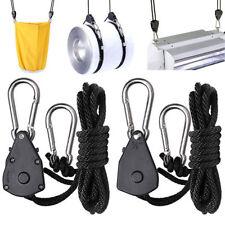Outdoor Camping Rope Ratchet Adjustable Heavy Duty Hanger Light Reflector 1 Pair