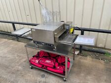Lincoln Cti 2501 digital countertop conveyor pizza oven with table on casters