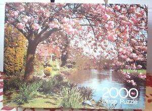 ROYAL ARROW 2000 PIECE JIGSAW PUZZLE COTTAGE DEVON Complete Vintage 1980 Blossom
